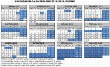 KALENDAR RADA  ZA ŠKOLSKU 2017./2018. GODINU
